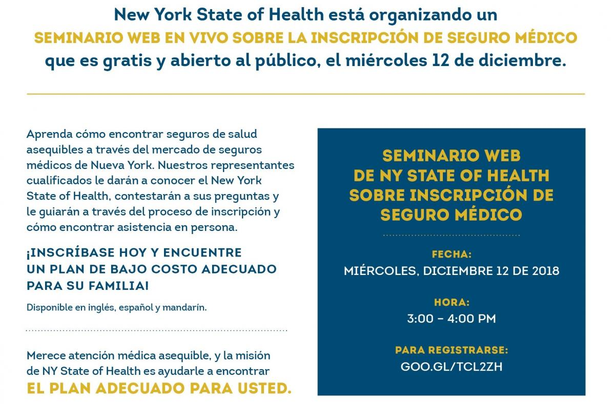 Interactive Health Insurance Enrollment Webinar Ny State Of Health